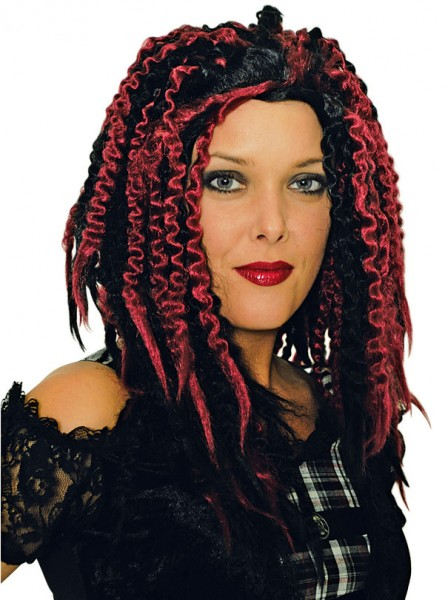 Haare von rot zu schwarz