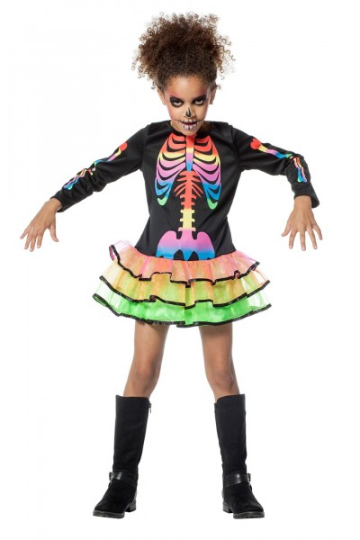 Kostüm Skelett Rainbow Kind