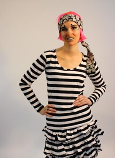 Ringelshirt Lady schwarz/weiß langer Arm