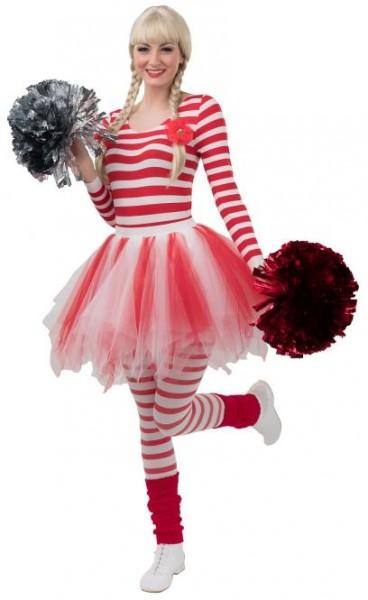 Tutu, Petticoat rot/weiß Erwachsene und Kinder