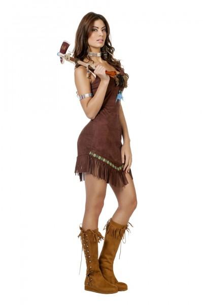 Kostüm sexy Indianerin braun