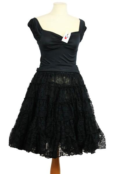 Spitze petticoat schwarz