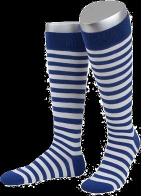 Ringelstrümpfe blau/weiß