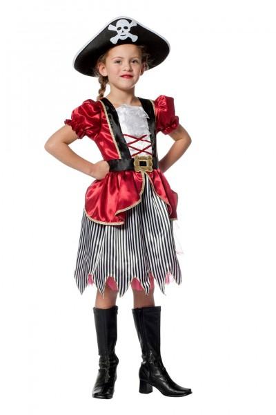 Kostüm Piratenmädchen rot Kinder