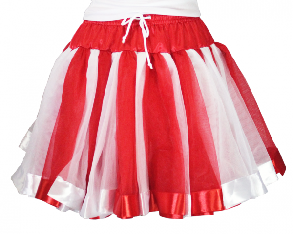 rot weißes Petticoat Tubes