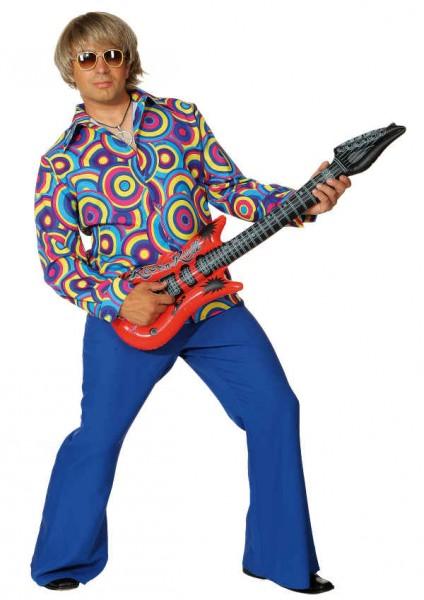 Hippie-Hemd Crazy blau