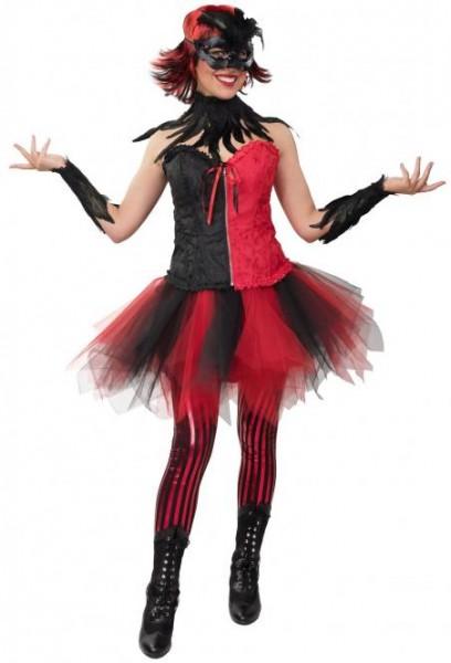 Tutu, Petticoat rot/schwarz für Erwachsene und Kinder
