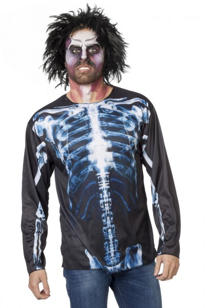bedrucktes shirt Skelett