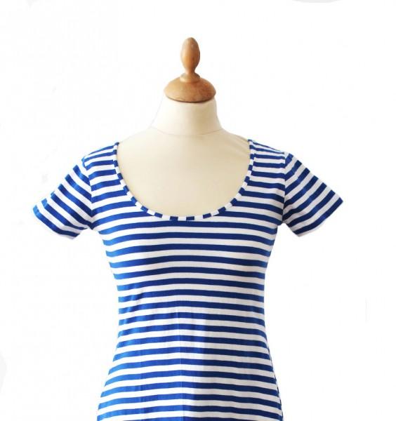 Ringelshirt Lady blau/weiß 1/2 Arm