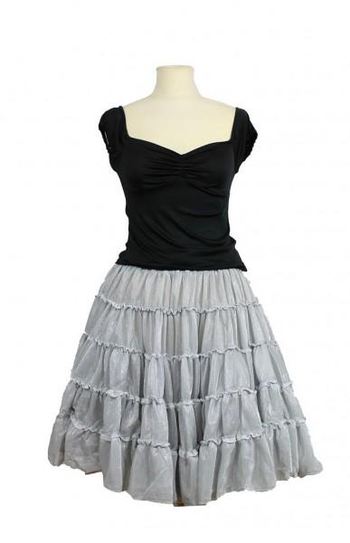 metallic petticoat silber