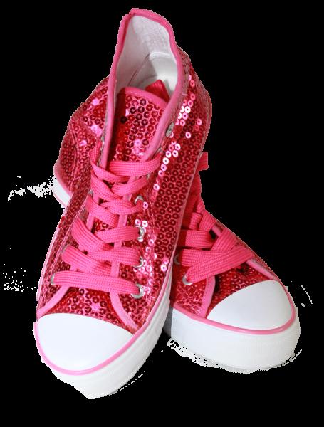 Paillettenschuh pink