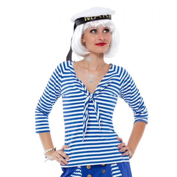 Matrosenshirt blau/weiß mit Knoten