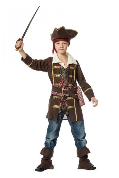 Kostüm Pirat braun Kind
