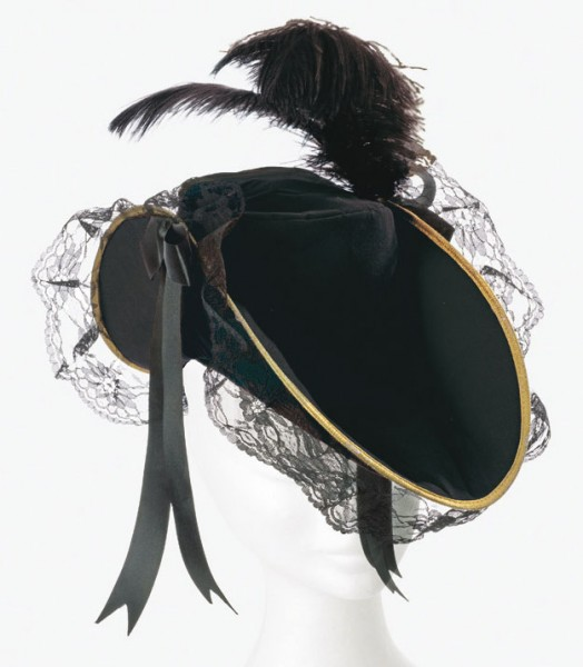Piratenhut de Luxe schwarz