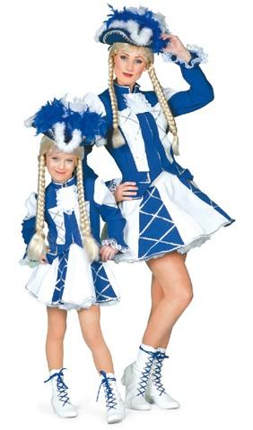 Kostüm Funkemariechen blau Mädchen