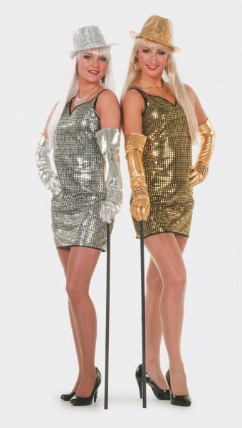 Pailletten-Kleid gold