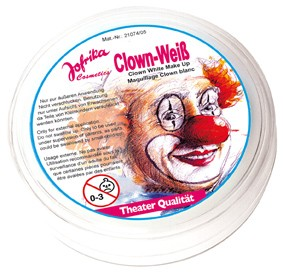 Jofrikas Cosmetics Clown Weiss Schminke