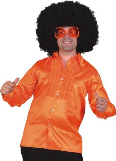 Rüschenhemd orange
