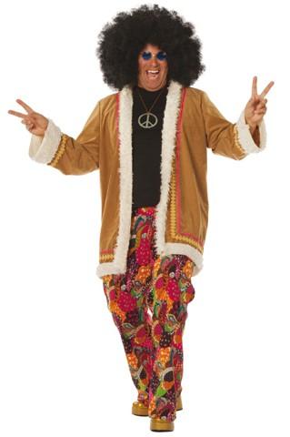 Kostüm Hippie-Anzug Flower Power