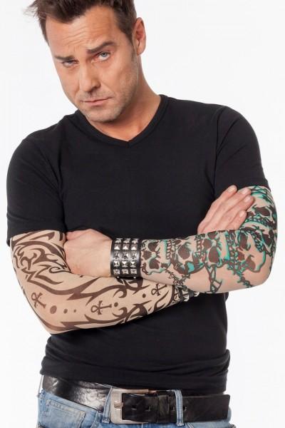 Tattoo-Ärmel Totenkopf