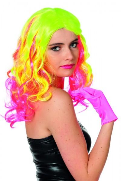 Perücke bunt neon