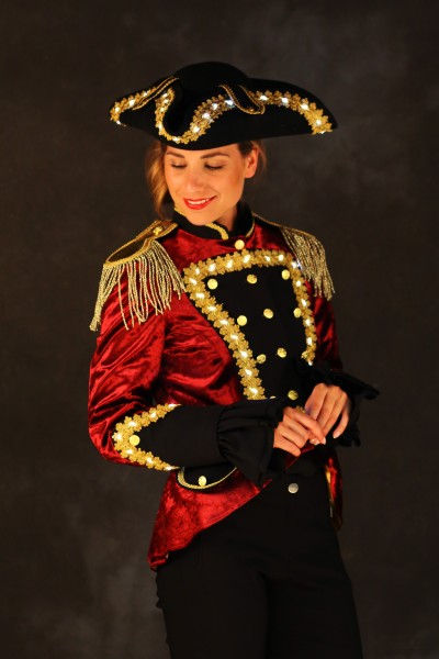 LED Uniformajcke Damen rot
