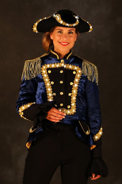 LED Uniformajcke Damen blau