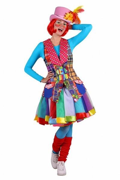 bunte Clownweste Damen