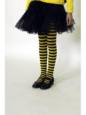 Kinderstrumpfhose schwarz/gelb
