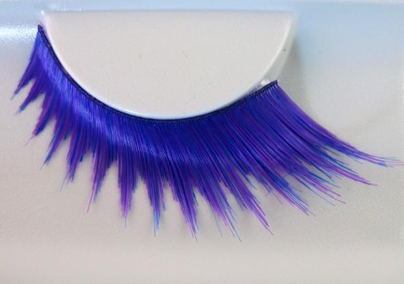 Wimpern lila-blau