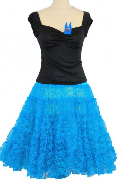 Spitze petticoat türkis