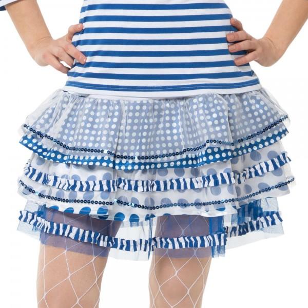 Ringel Rock Tupfen und Streifen blau-weiß