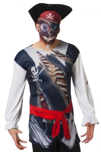bedrucktes shirt Pirat mit Maske