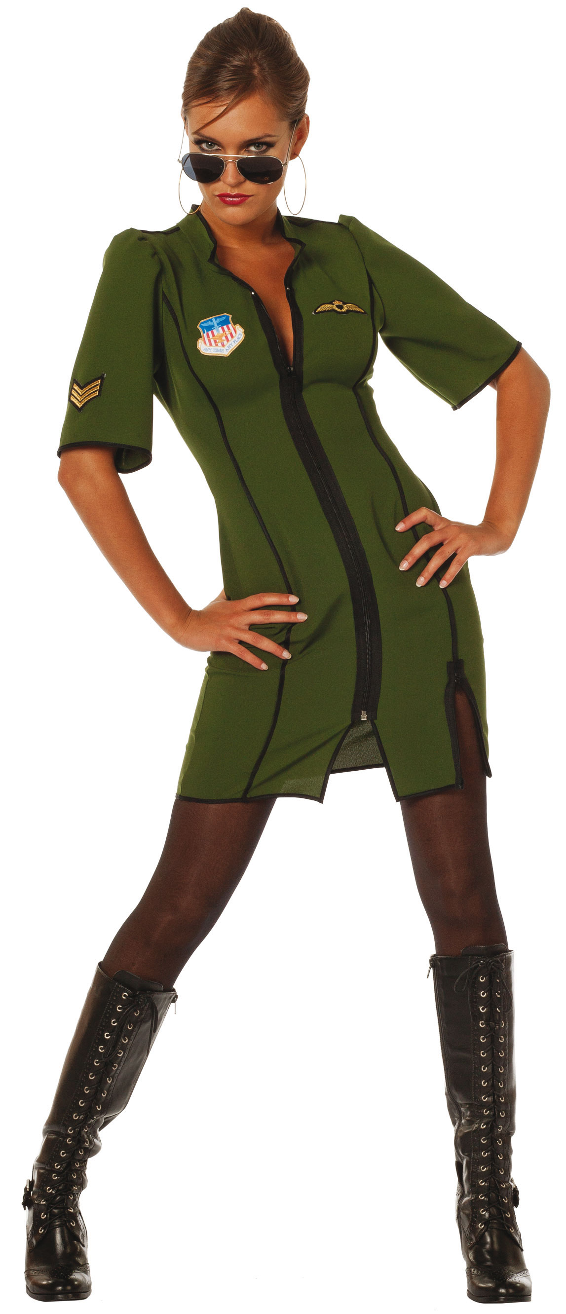 Damen Jetpilotin Sexy Kostüme Charlies Kostüm HW7tBaa