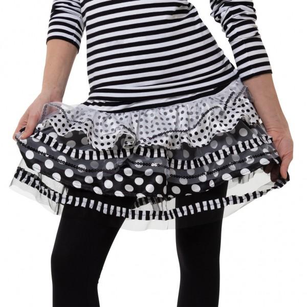 Ringel Rock Tupfen und Streifen schwarz-weiß
