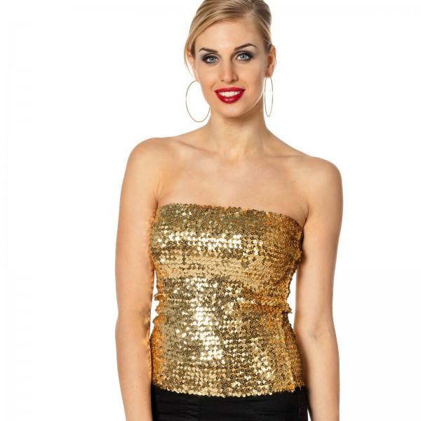 Paillettentop gold