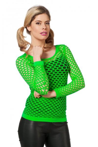Netzshirt mit langen Armen grün