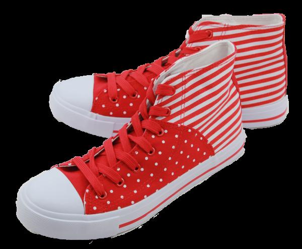 Schuh rot Punkte