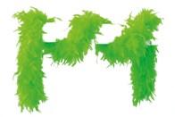 Federboa neon-grün 180 cm