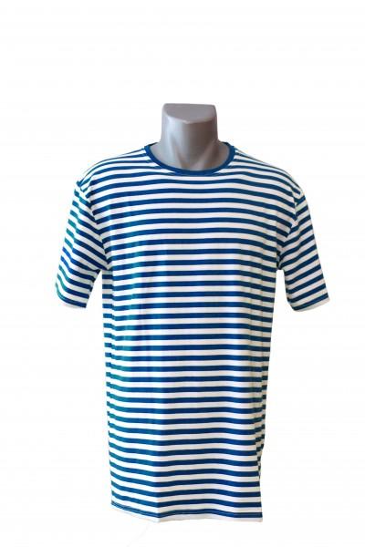 Ringelshirt Herren blau/weiß, Kurzarm