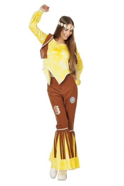 Kostüm Hippie FlowerPower gelb
