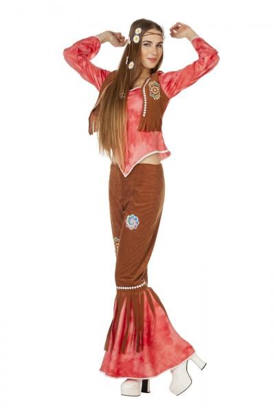 Kostüm Hippie FlowerPower rot