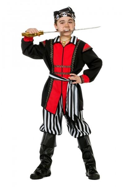 Piratenkostüm schwarz/weiß Kinder