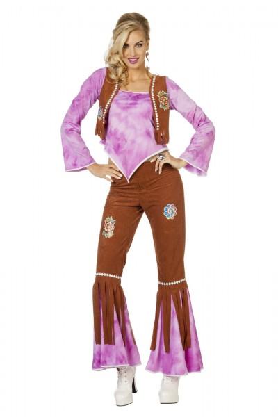 Kostüm Hippie FlowerPower lila
