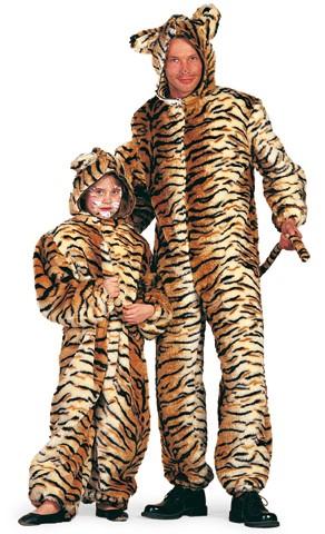 Kostüm Plüsch-Tiger Herren
