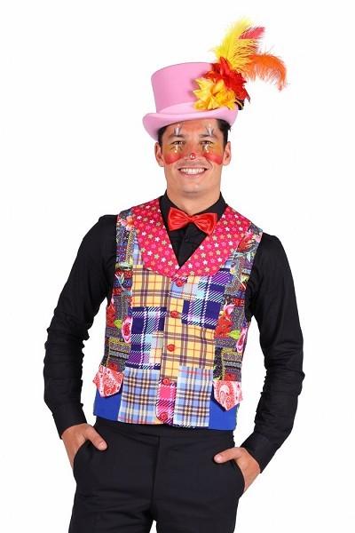 bunte Clownweste Herren