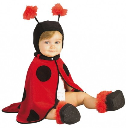 Kostüm Baby Marienkäfer Cape