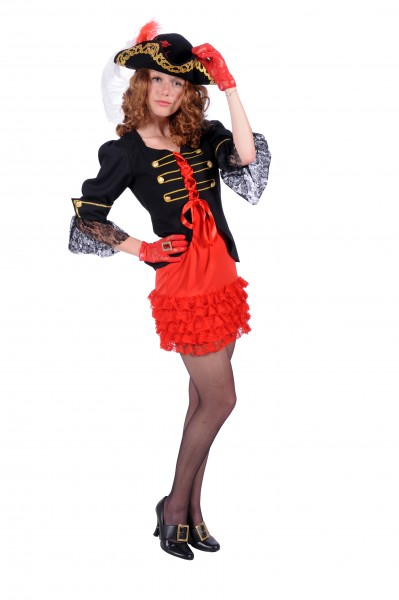 Piratin Chloé schwarz-rot