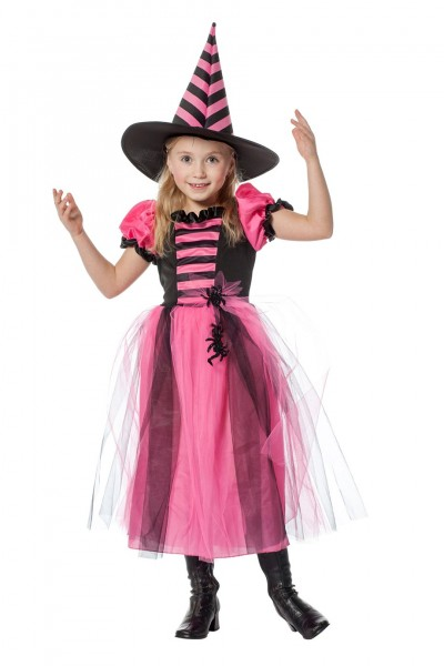 Kostüm Hexe rosa Kind