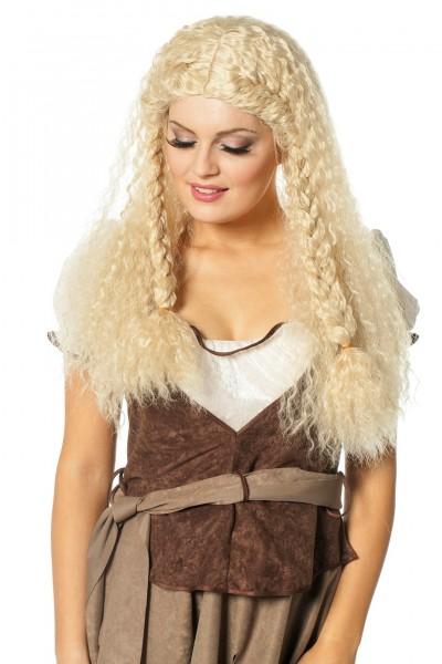 Perücke Mittelalter blond